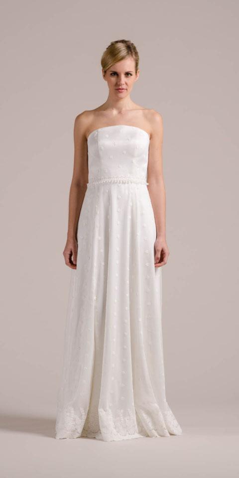 Schönes Brautkleid mit Sternen – besonders und schlicht – Holly