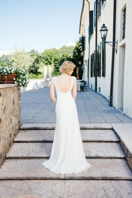 Sexy Brautkleid – tiefe Spitzencorsage mit Herzausschnitt – Pina