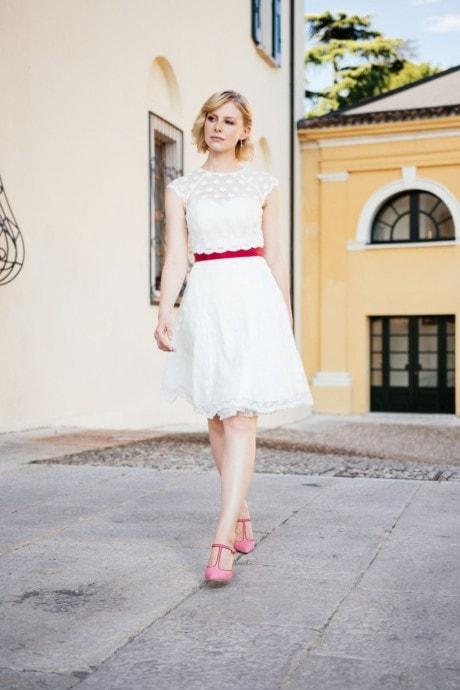 Standesamtkleid kurz – mit Petticoat tragbar – Melly