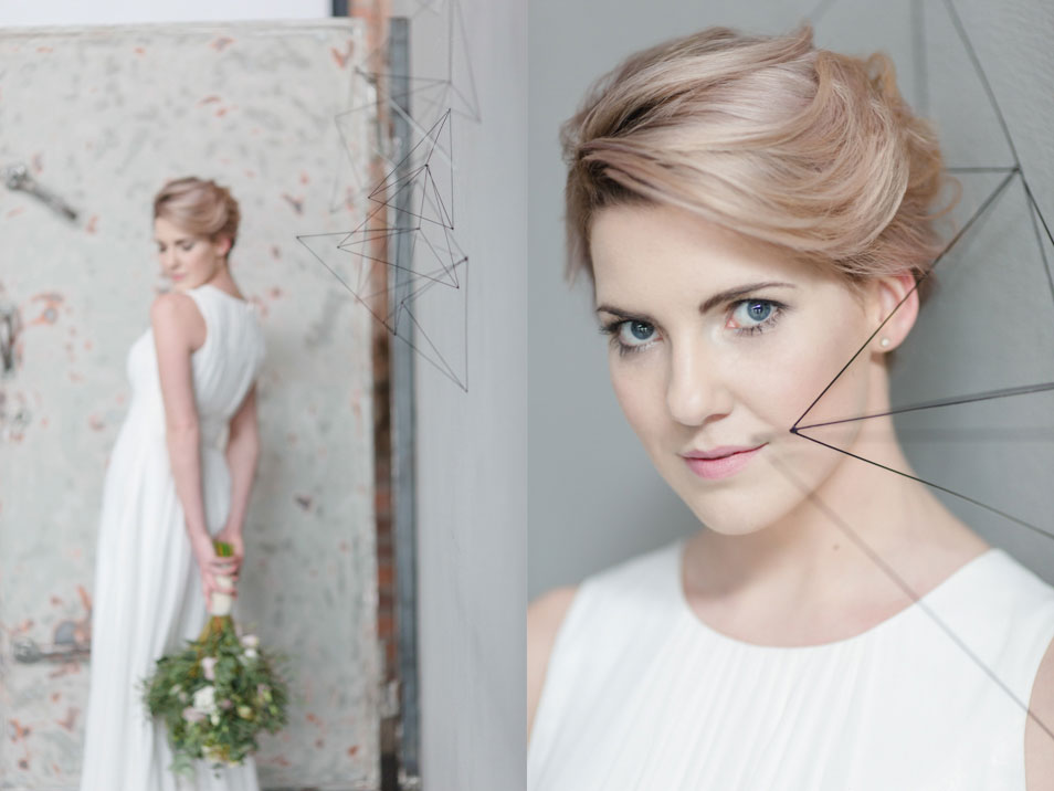 minimalistischer Look für die Braut