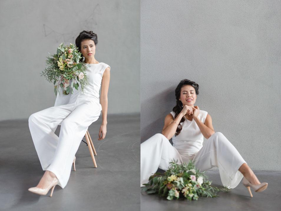 moderne Hochzeit minimalistisch Brautkleid Marlene