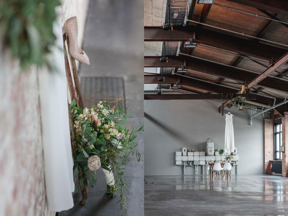 moderne Hochzeit Inspiration im Goldbergwerk