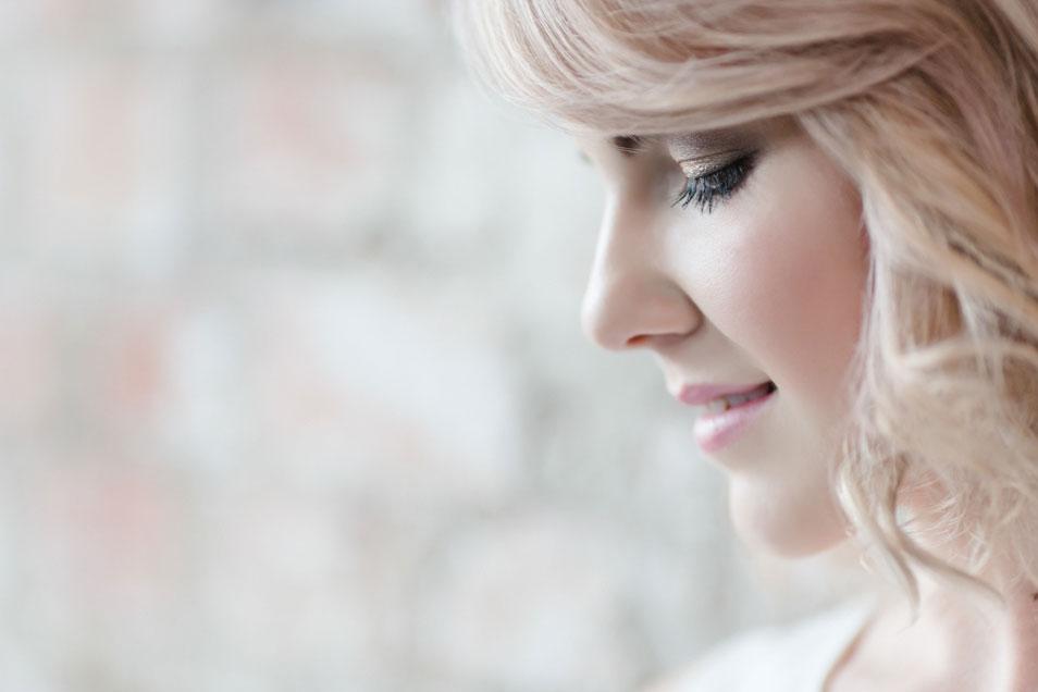 zarte Braut Portrait
