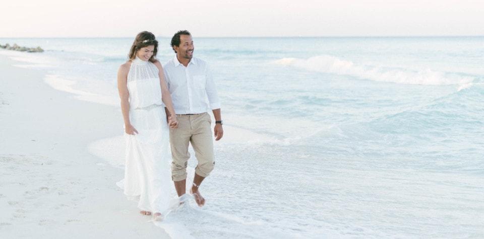 Strand Hochzeitskleid