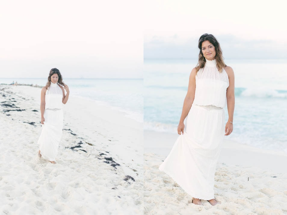 Hochzeitskleid am Meer