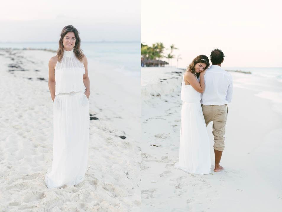 Strand Hochzeitskleid – verträumt romantisch in der Karibik