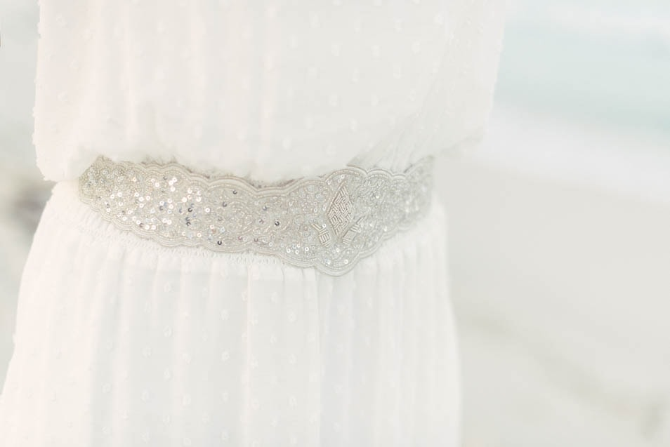 Gürtel zum Strand Brautkleid