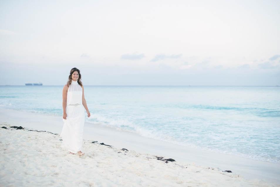 Strand Hochzeitskleid am Meer