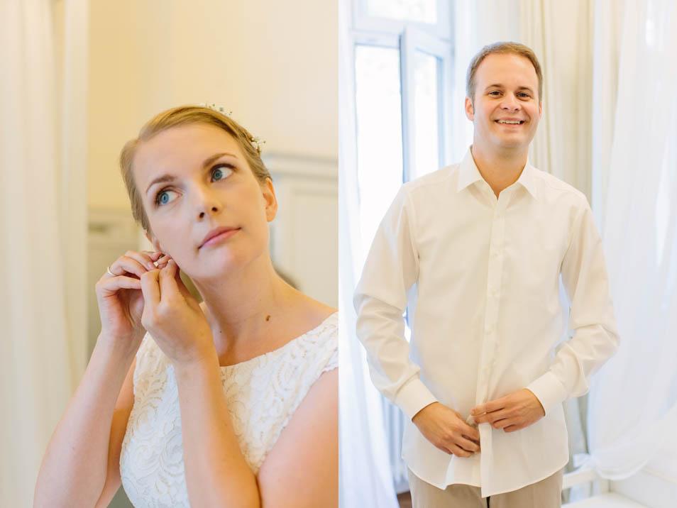 Brautpaar am Hochzeitsmorgen