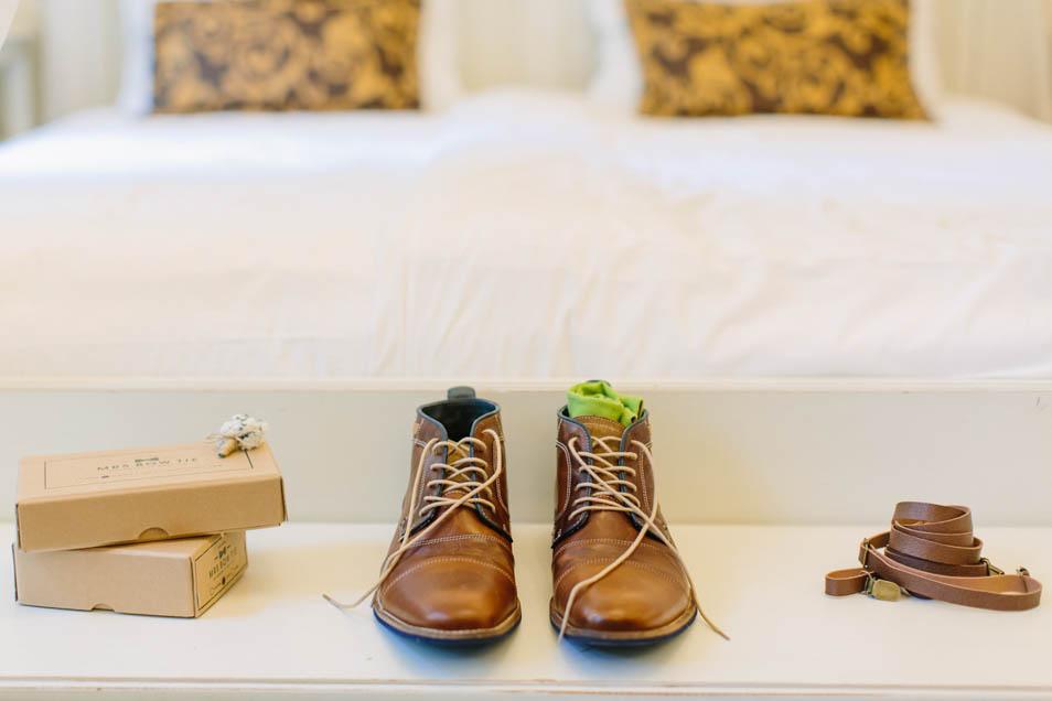 Schuhe Bräutigam grüne Socken