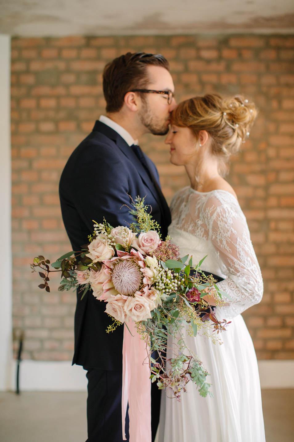 Brautkleid Faye mit Spitzenbolero