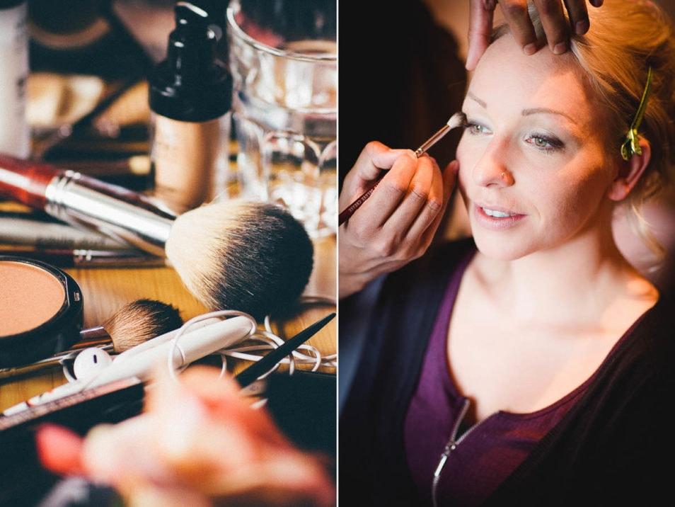 Hair and Makeup Hochzeitsvorbereitung