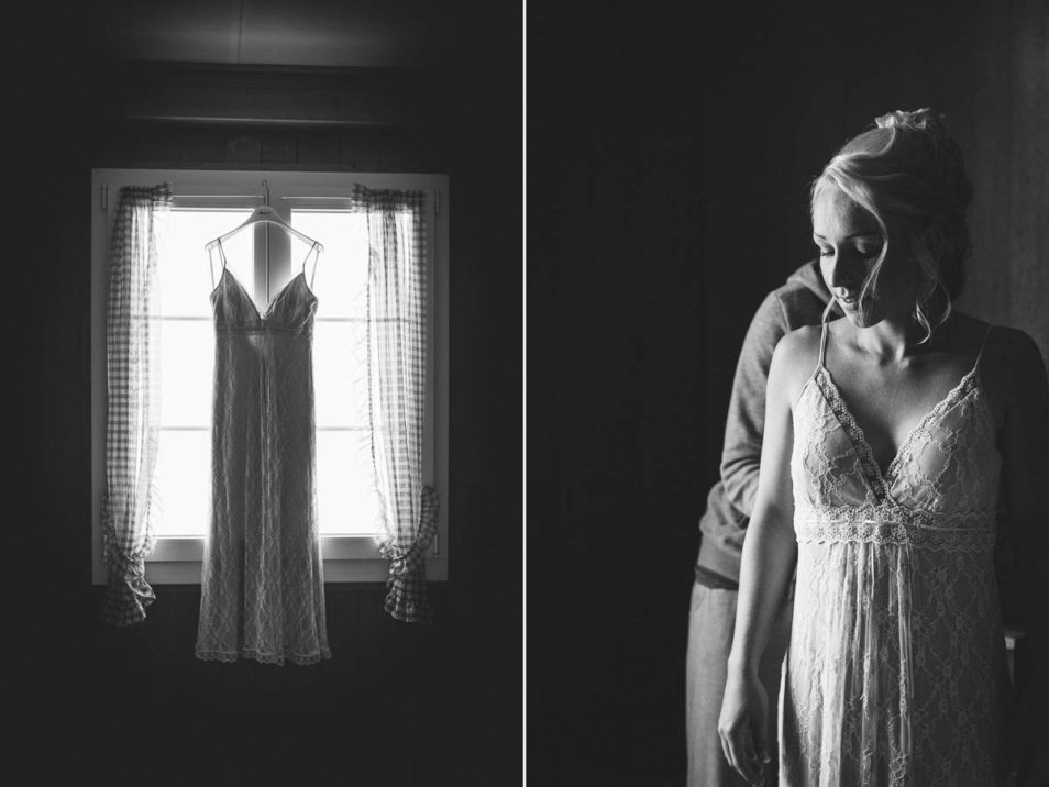 rosa Brautkleid in schwarz weiß
