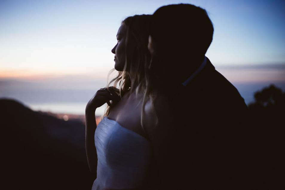 Braut Foto zur blauen Stunde