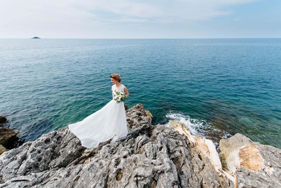 Brautkleid Style mit Bolero