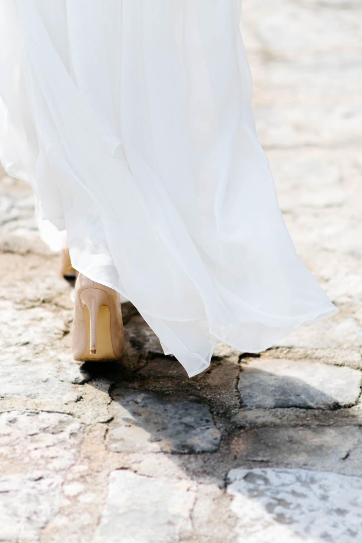 High Heels zum Brautkleid
