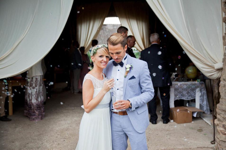 Brautpaar beim Empfang