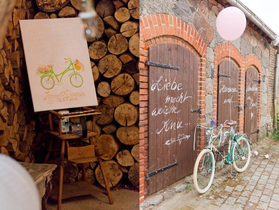 Vintage Fahrrad zur Hochzeit