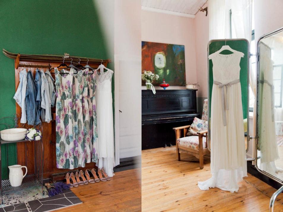 Kleider für Braut und Brautjungfern