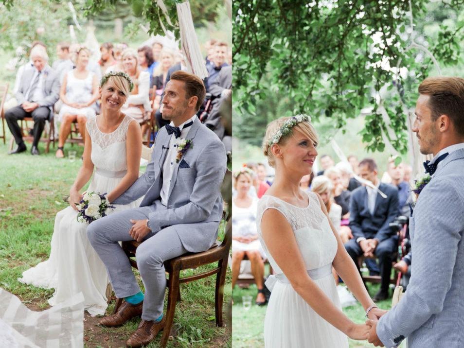 vintage wedding unter freiem Himmel