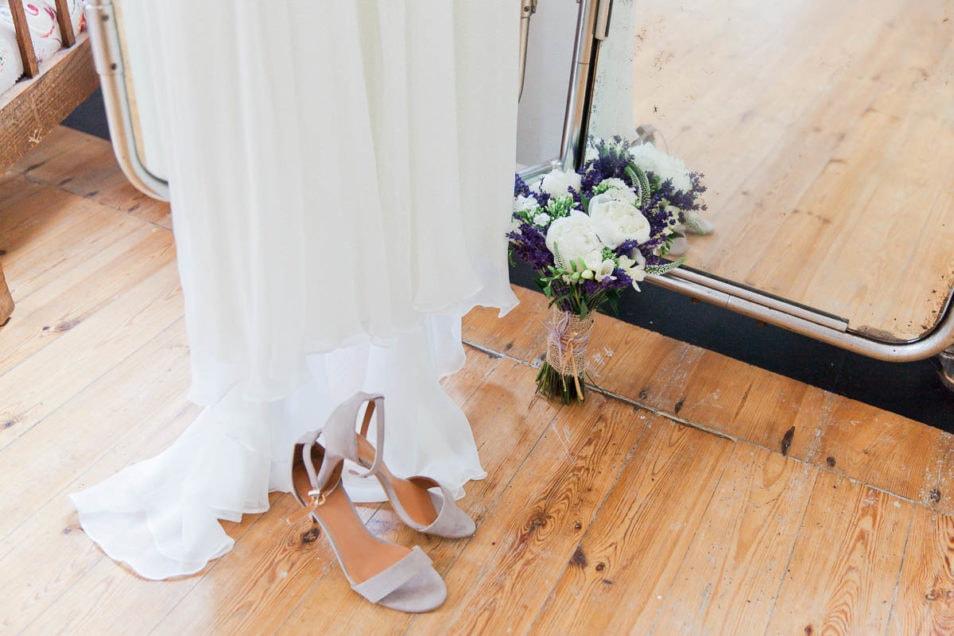 Schuhe passend zum Brautkleid