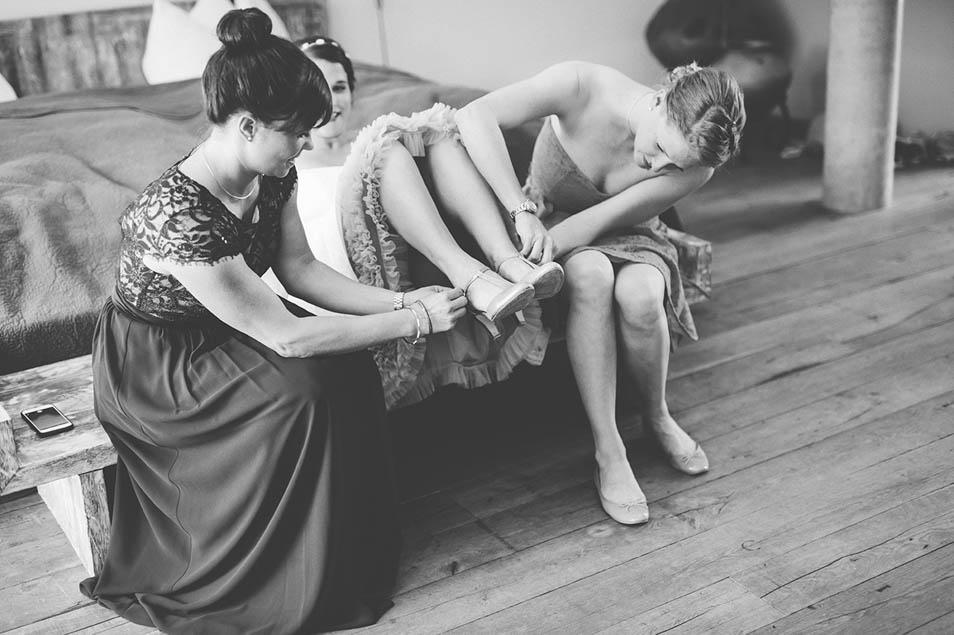 Brautjungfern und Brautschuhe