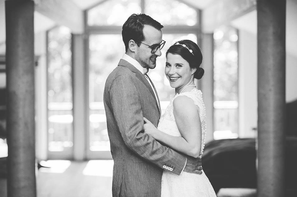 Fotos vor der Hochzeitsparty