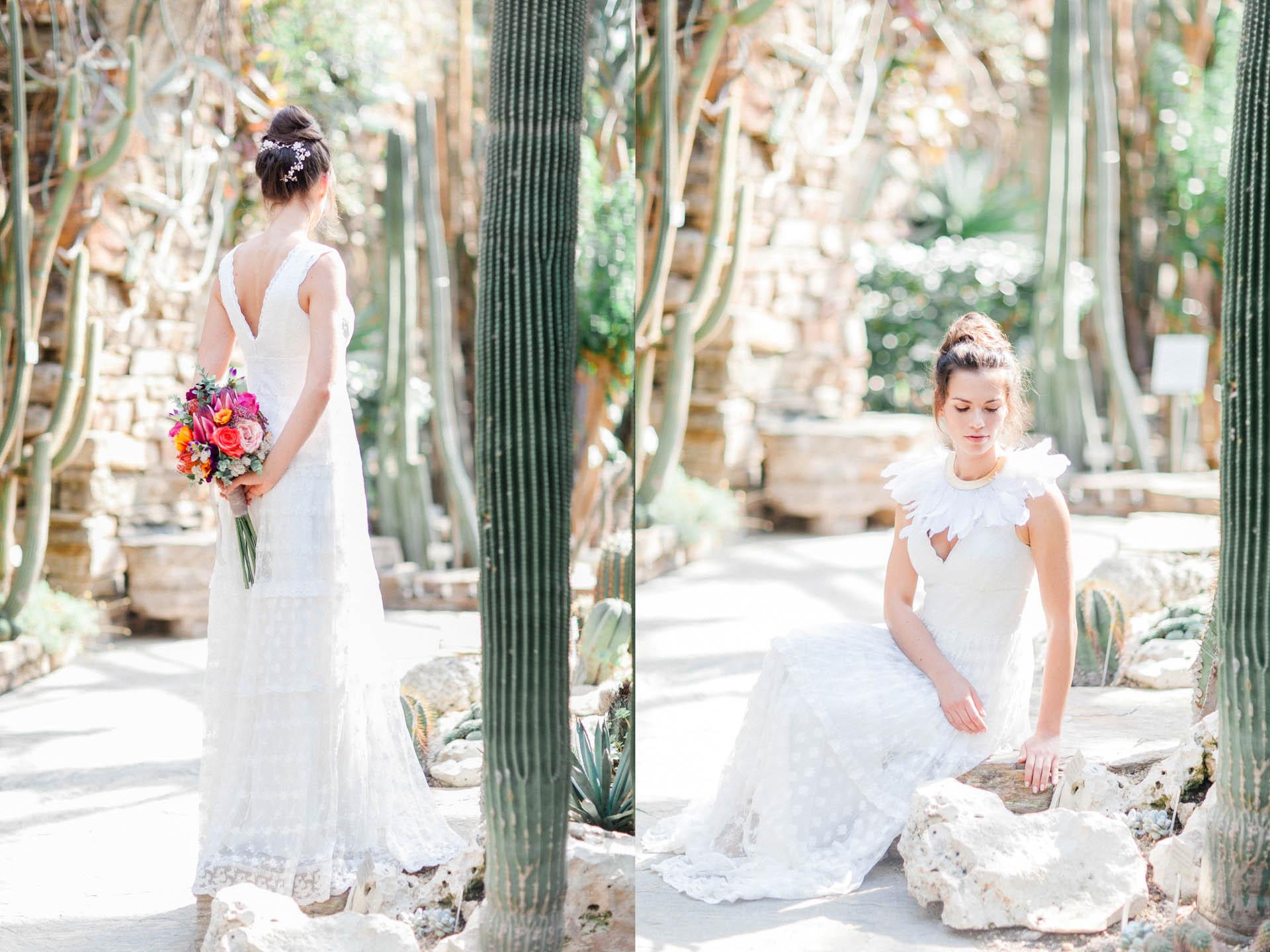 Rückenansicht Bohemian Brautkleid