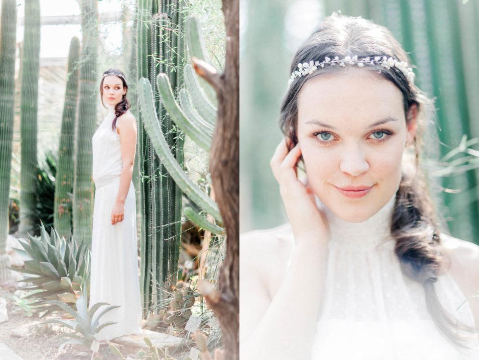 Bohemian Brautkleid Portraitaufnahme