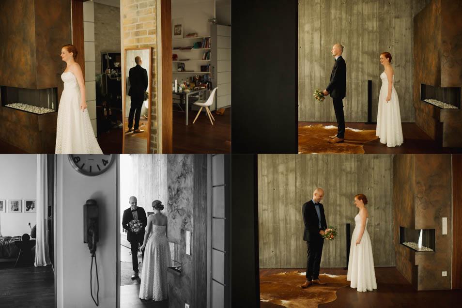 First Look der besonderen Hochzeit
