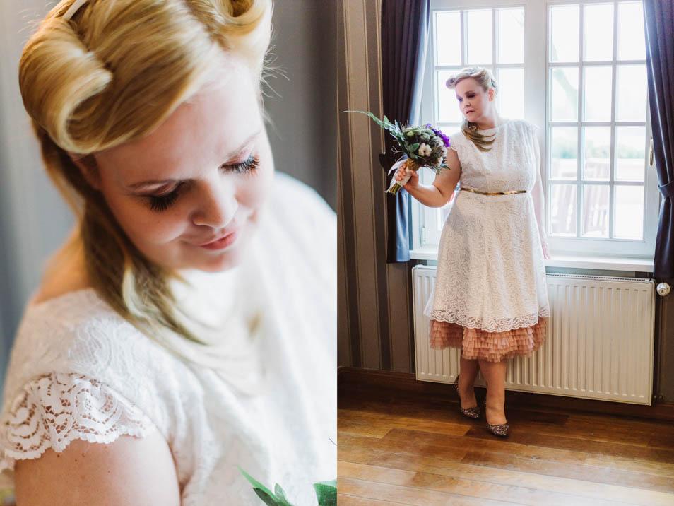 Kurzes Übergrößen Brautkleid mit Petticoat
