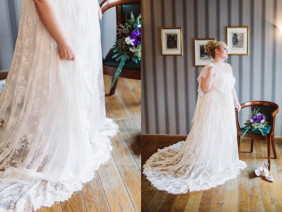 Brautkleider Übergröße mit Spitzenschleppe