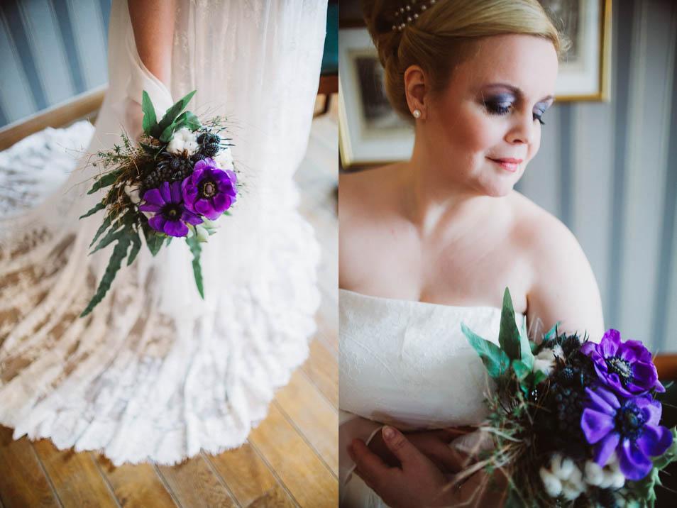 Plus Size Braut mit Brautstrauß