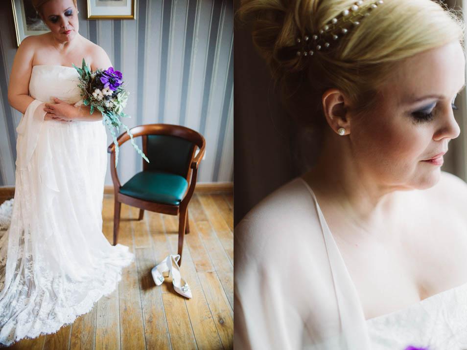 Schulterfreies Brautkleid in Übergröße