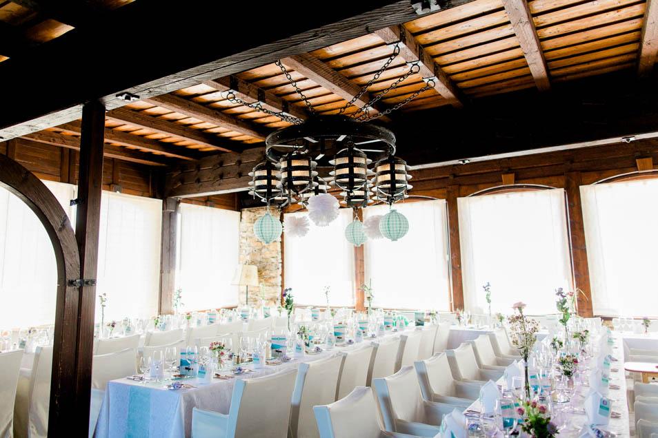 Hochzeitstafel auf Burg Landskron