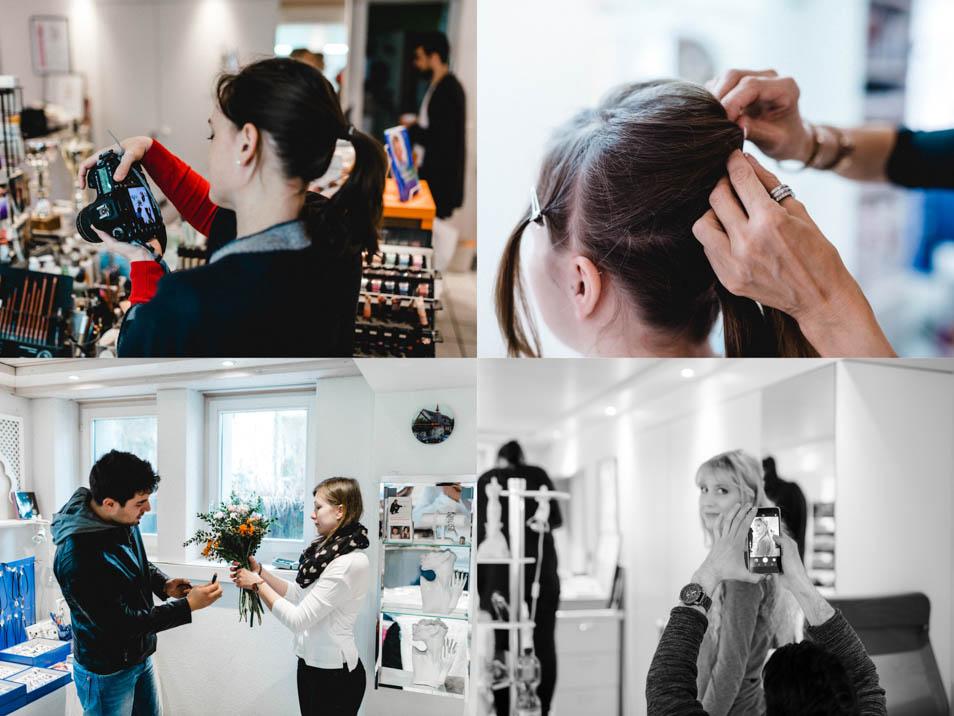 Making-of für unsere Brautkleider in Zürich