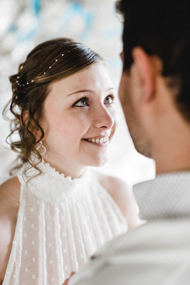 Strahlende Braut in Zürich
