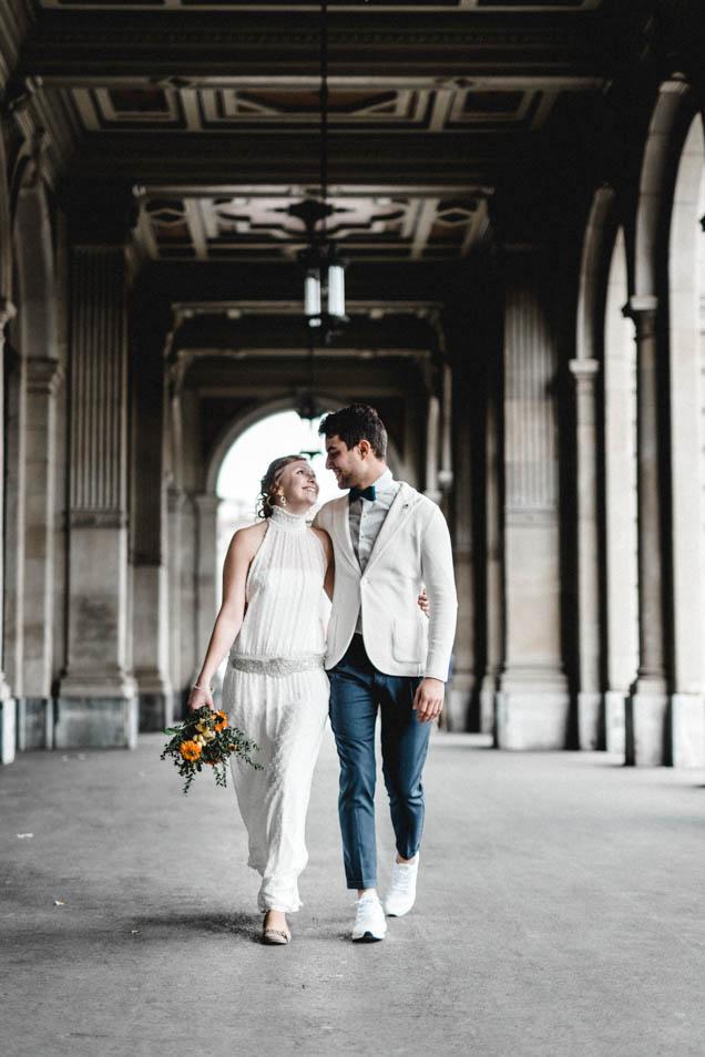 Braut mit Boho Brautkleid in Zürich