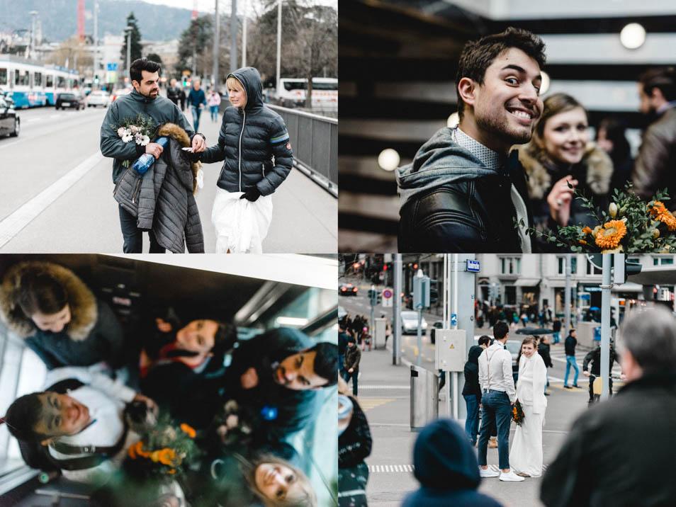 Ende des Fotoshootings – Brautkleider in Zürich