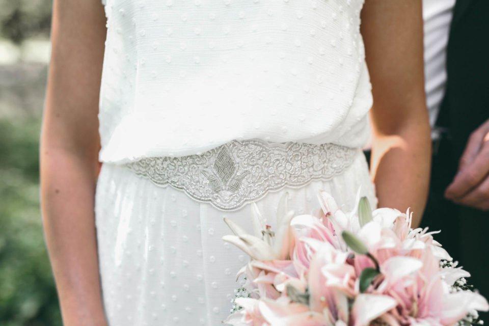 Boho Brautgürtel Detailaufnahme