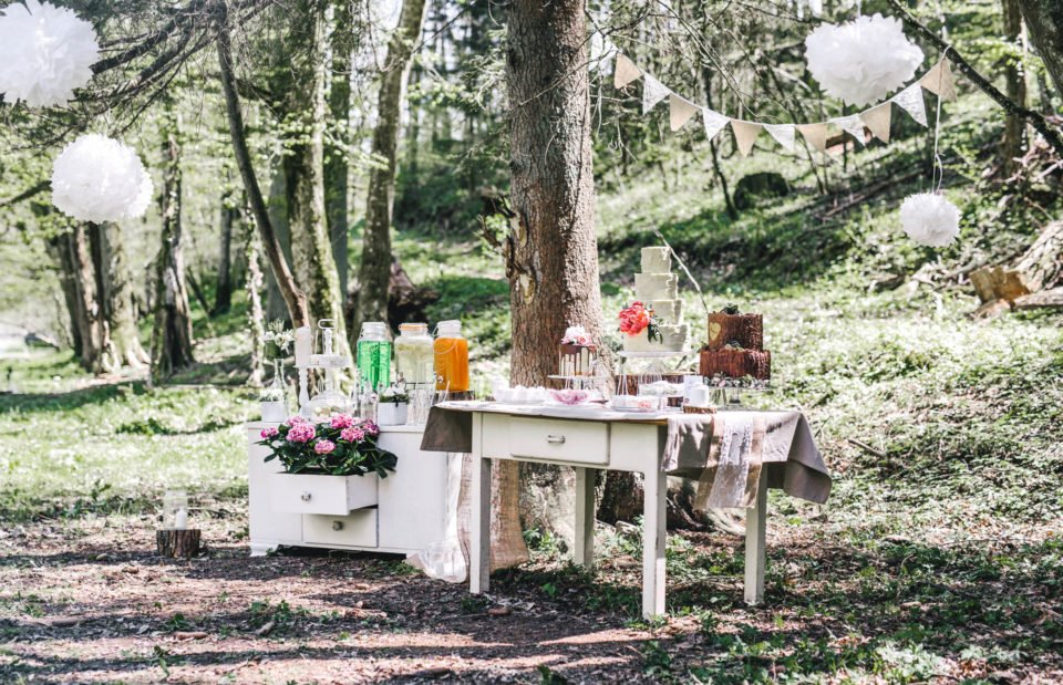 Sweet Table im Wald