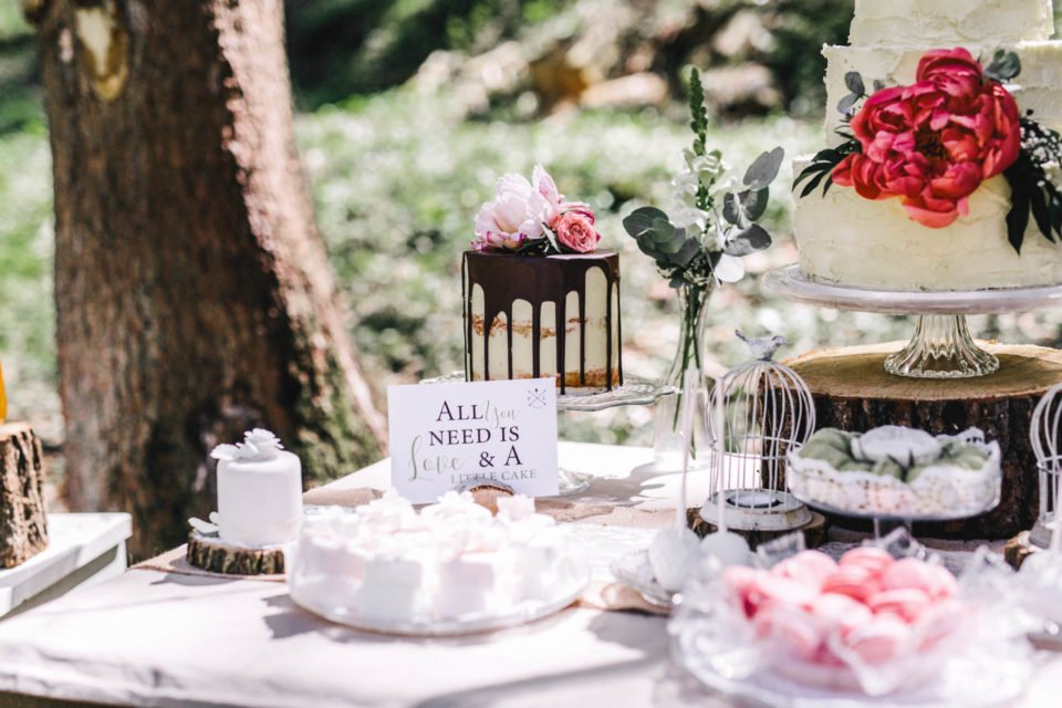 Sweet Table mit Schild