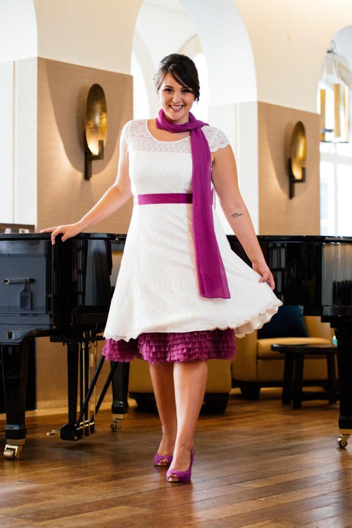 Plus Size Hochzeitskleid kurz