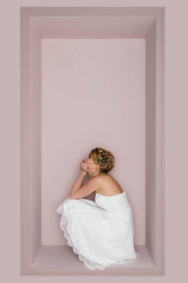 Brautkleid mit Petticoat – kurzes Spitzenkleid – Katy