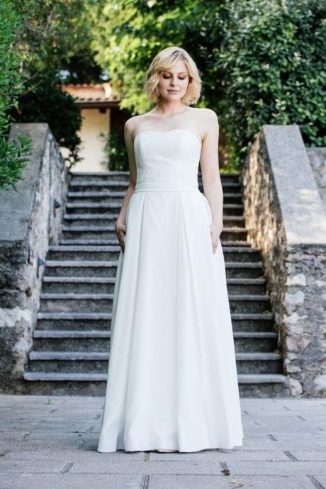 Brautkleid Corsage –Spitzenkleid mit Faltenrock – Tessa