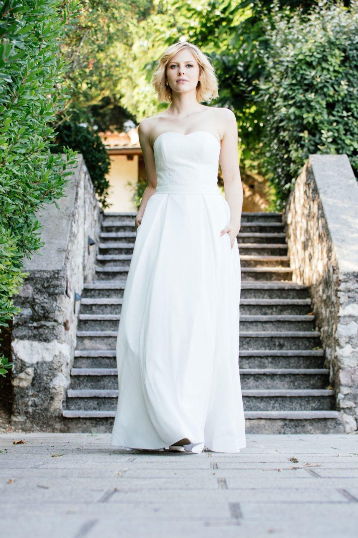 Brautkleid Corsage –Spitzenkleid mit Taschen