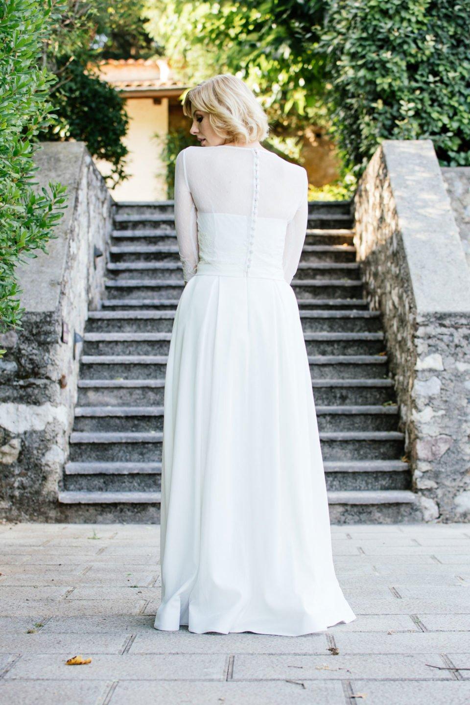 Brautkleid Corsage –Rückenansicht mit Bolero