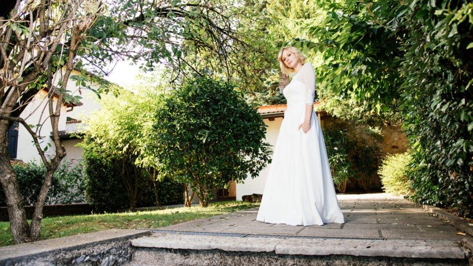 Brautkleid Corsage –Spitzenkleid mit Faltenrock