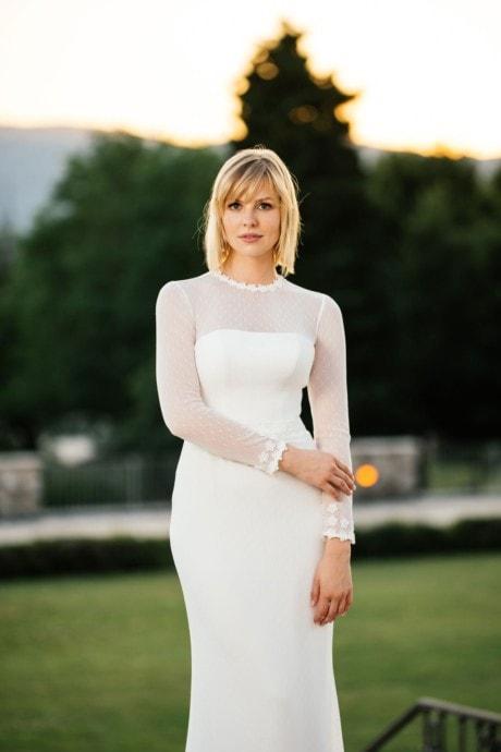 Brautkleid mit Ärmeln und außergewöhnlichem Rücken – Lynn