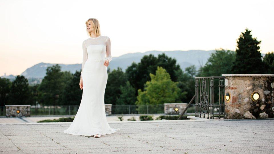 Brautkleid mit Ärmeln wundervollem Rücken
